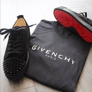 50ea55c0b20f Shoes - Red Bottoms and Givenchy shirt all sizes